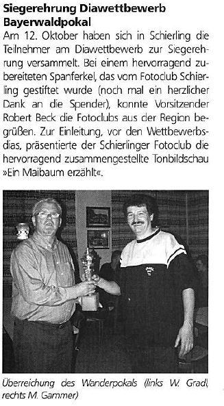 Siegerehrung Bayerwaldpokal 2002