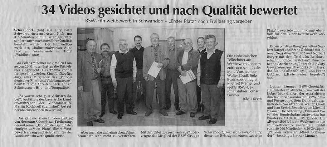 BSW-Filmwettbewerb in Schwandorf