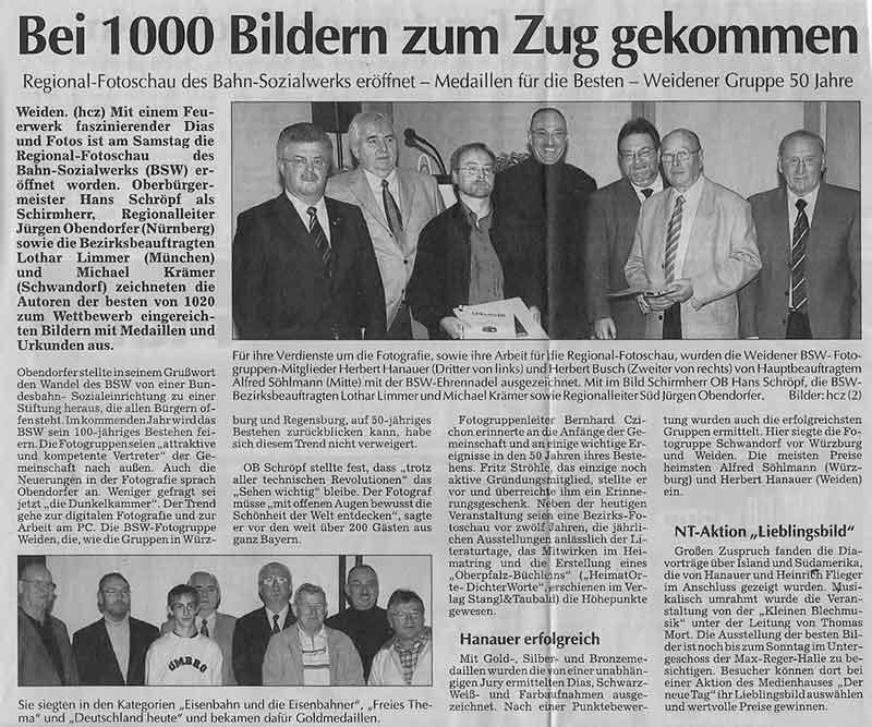 Regional Fotoschau 2003 in Weiden