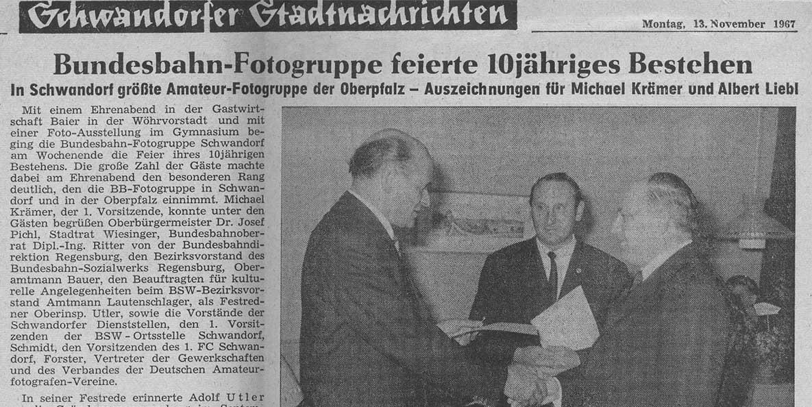 Bundesbahn-Fotogruppe feierte 10jähriges Bestehen