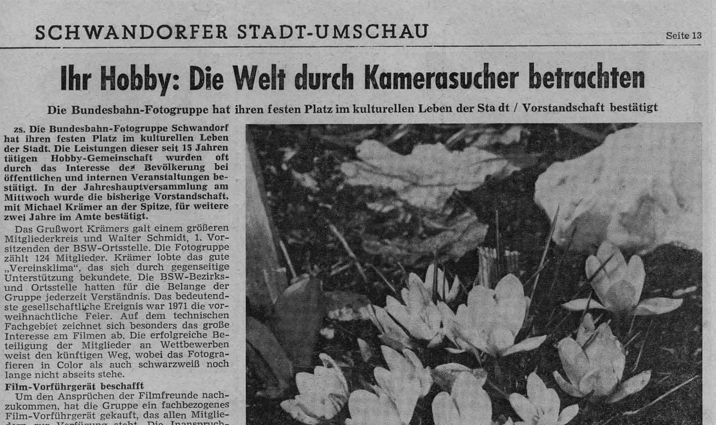 Schwandorfer Stadt-Umschau – durch den Kamerasucher betrachtet