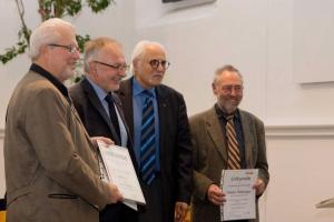 Ehrenmitglieder Urkunden durch Fritz Müller, Willi Reinmiedl und Robert Kernl