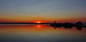 Sonnenuntergang in Podersdorf