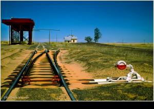 Gleis in die Wüste NAMIBIA