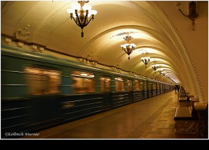 In der U-Bahn MOSKAU