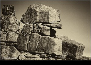 Steine am Spielplatz der Giganten NAMIBIA